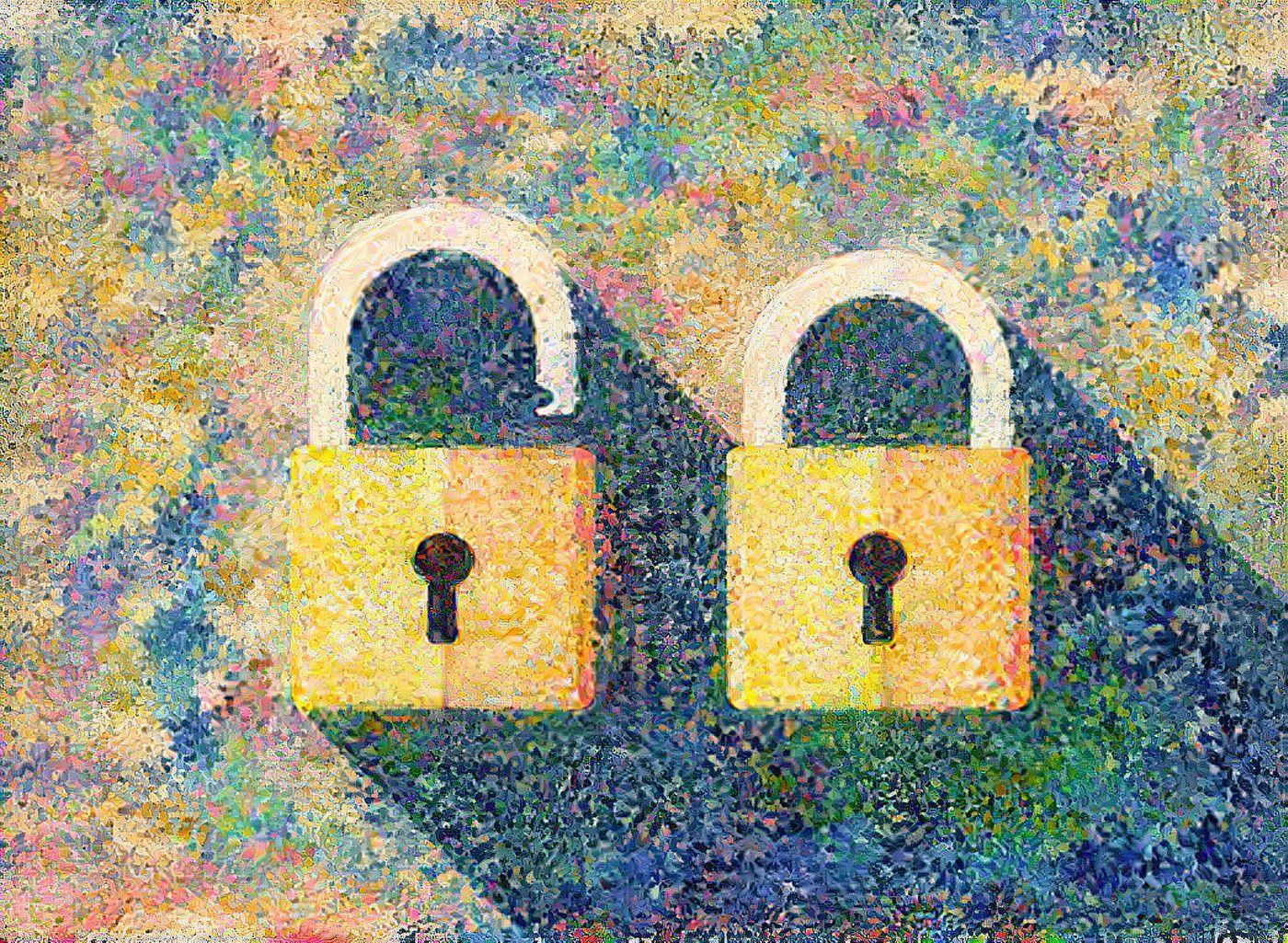 AI painting of locks