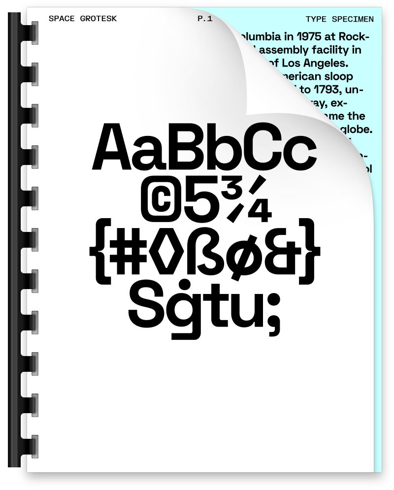 Preview of Space Grotesk font