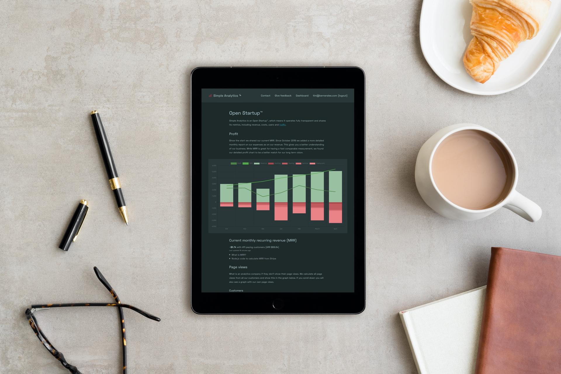 Open Startup iPad
